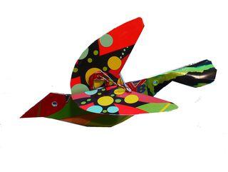 Metal bird wings