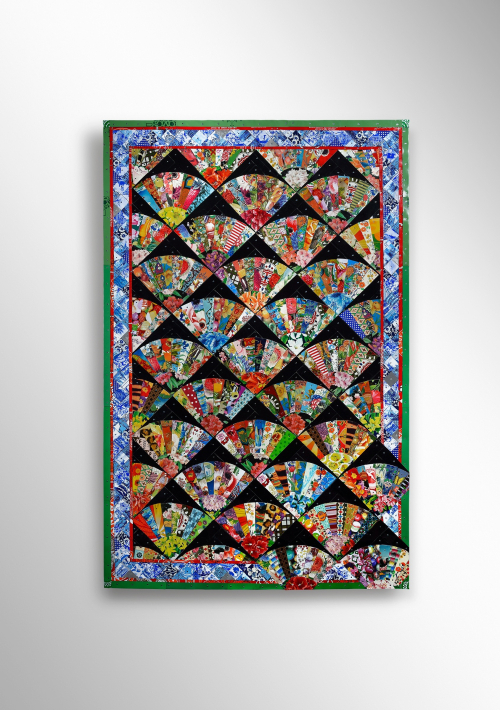 Flowers and Candy tin quilt